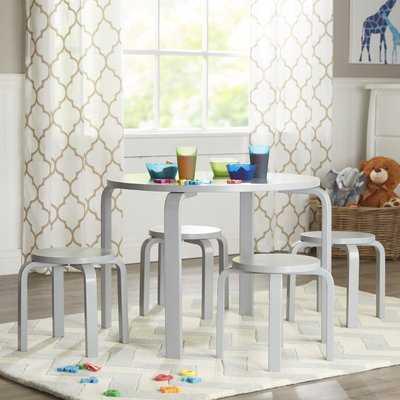 Kahn Kids 5 Piece Table and Stool Set - AllModern