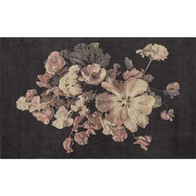 Daphne Black Floral Rug 5'x8' - CB2