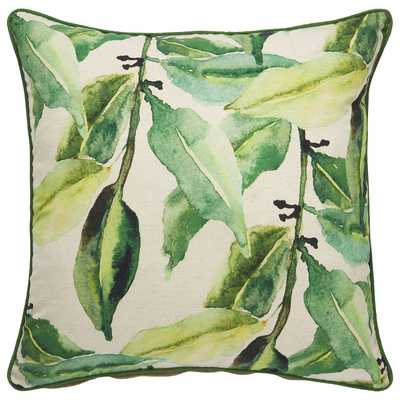 "Design (US) Green 22""X22"" Pillow - Collective Weavers"