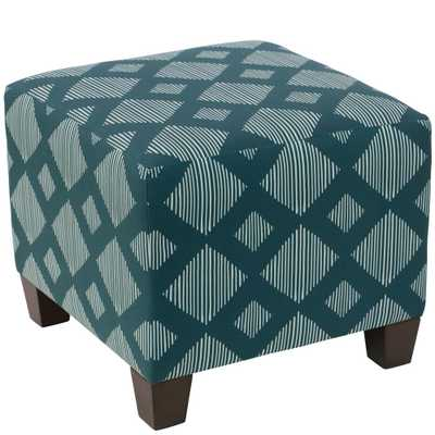 Skyline Furniture Hdc Line Lattice Teal Square Ottoman - Home Depot