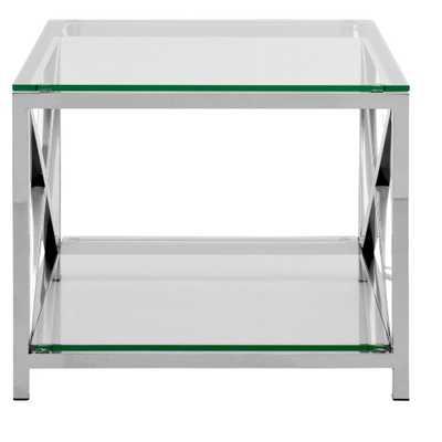 End Table Chrome (Grey) - Safavieh - Target