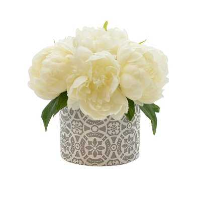 Peony Floral Arrangements in Pot - Birch Lane