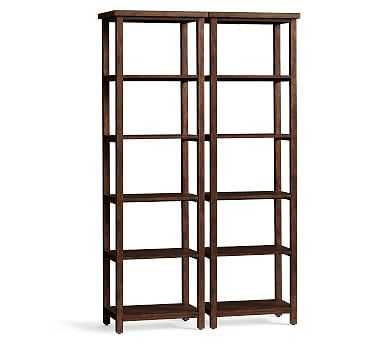 Mateo Double Bookcase, Set of 2, Little Creek Brown - Pottery Barn