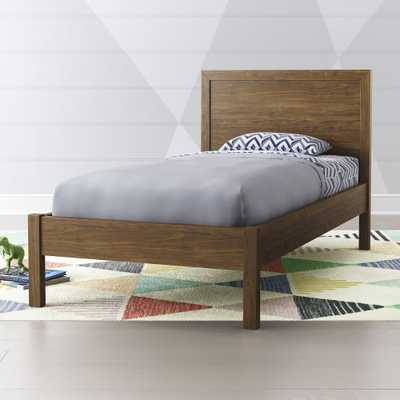 Taylor Walnut Twin Bed - Crate and Barrel