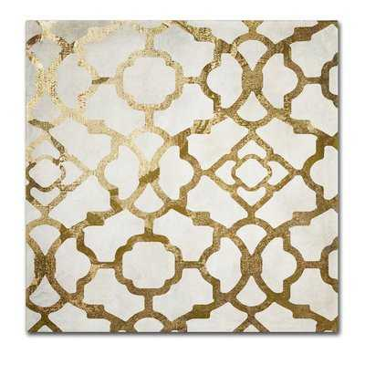 'Moroccan Gold II' by Color Bakery Graphic Art on Wrapped Canvas - Wayfair