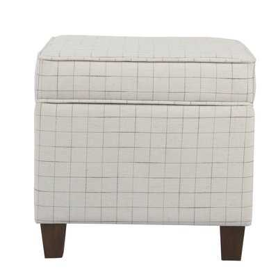 Carrol Windowpane Storage Ottoman - Wayfair