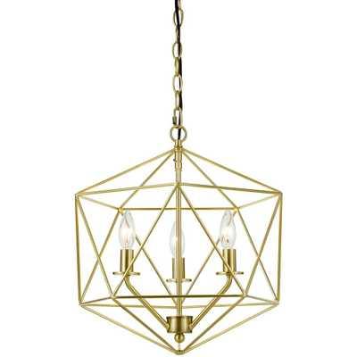 AF Lighting Bellini 3-Light Gold Chandelier - Home Depot