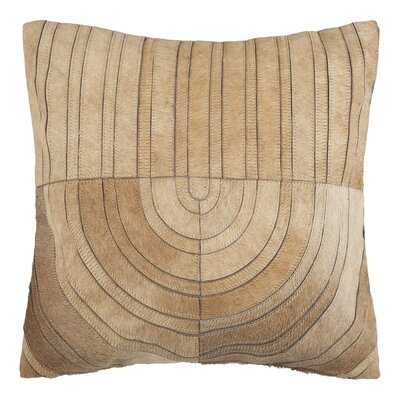 "Montauk Suede Geometric 20"" Throw Pillow - AllModern"