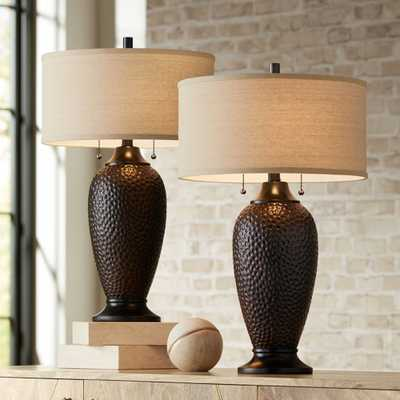 Cody Oiled Bronze Table Lamp Set of 2 - Style # 37E15 - Lamps Plus