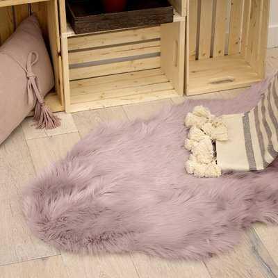 Ophir Faux-Fur Pink Area Rug - Wayfair