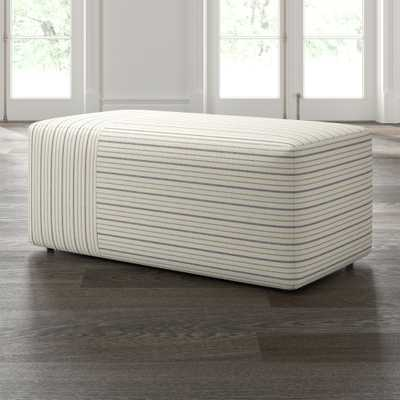 Tommi Rectangular Striped Ottoman - Crate and Barrel