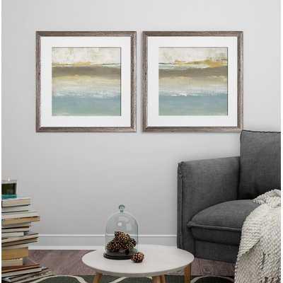 'Soft Solace Detail I' 2 Piece Framed Print Set - Wayfair