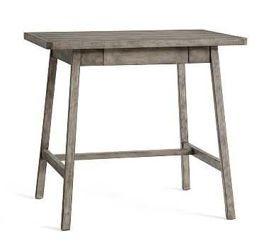 Mateo Small Rustic Desk, Salvaged Gray - Pottery Barn
