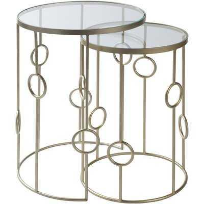 Rosenberger Modern Silver Nesting Table Set - Wayfair