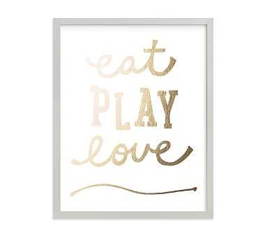 Eat. Play. Love. Wall Art by Minted(R) 11x14, Gray - Pottery Barn Kids
