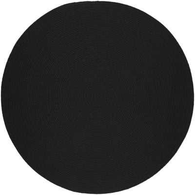 Handmade Black Area Rug- Round 4' - Wayfair