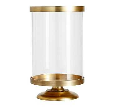 Chester Brushed Hurricane, Brass - Small - Pottery Barn