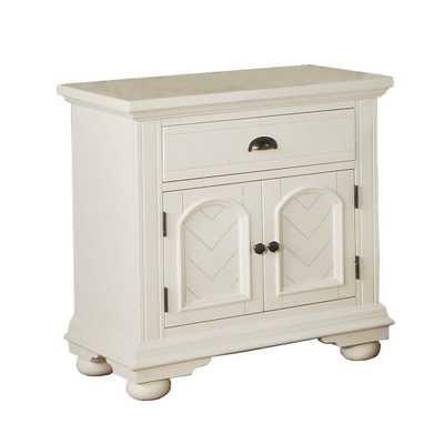 Element International Addison 1-Drawer Nightstand in White - Home Depot