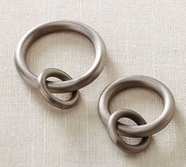 PB Standard Round Rings, Set of 13, Large, Pewter Finish - Pottery Barn