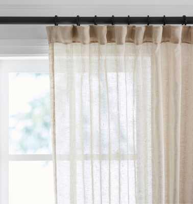 Sheer Linen Curtain Panel - Natural - Rejuvenation