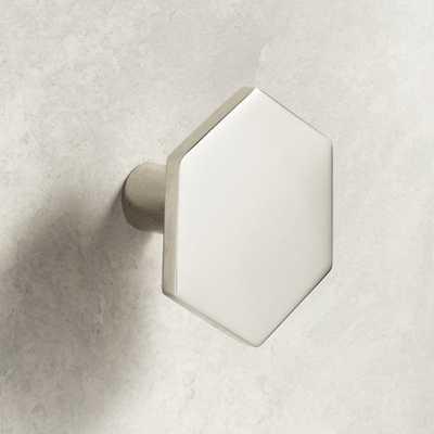 Hex Polished Nickel Knob - CB2