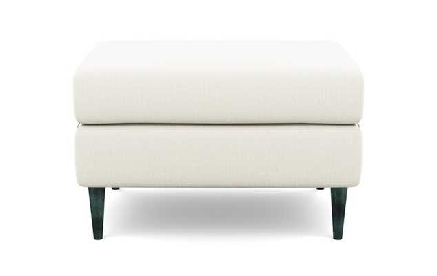 Asher Ottoman with Ivory Fabric and Unfinished GunMetal legs - Interior Define