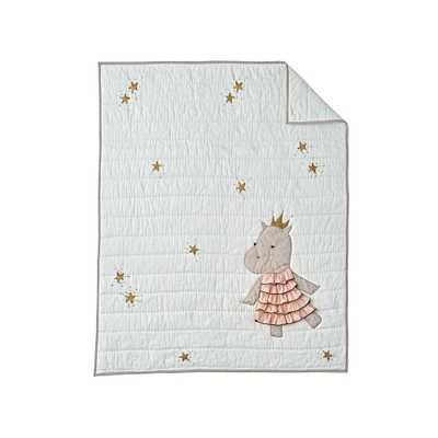 Royal Hippo Baby Quilt - Crate and Barrel