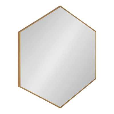 Rhodes Hexagon Gold Plastic Wall Mirror - Home Depot