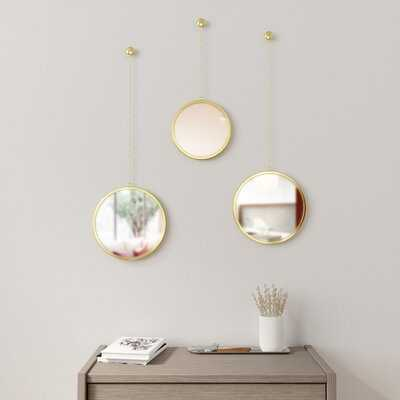 3 Piece Dima Modern & Contemporary Mirror Set - Wayfair