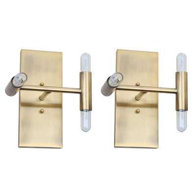Safavieh Edana 8-Light Gold Wall Sconce (Set of 2) - Home Depot