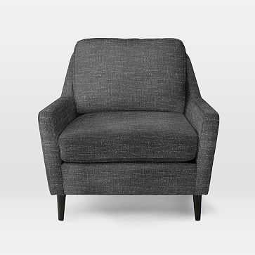 Everett Chair, Heathered Tweed, Charcoal - West Elm