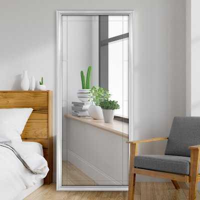 Jettie Grooved Leaner Full Length Mirror, Silver - Wayfair