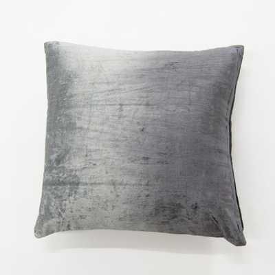 Ombre Grey Velvet Pillow - Home Depot
