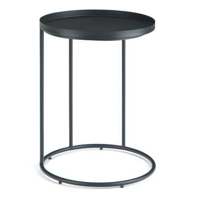 Simpli Home Monet Black Metal Side Table - Home Depot