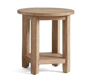 Benchwright Round Side Table, Seadrift - Pottery Barn