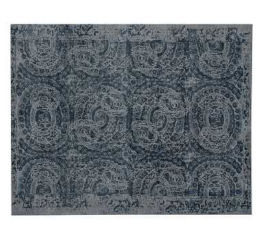 Bosworth Printed Wool Rug, 10X14', Blue - Pottery Barn