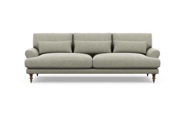 Maxwell Sofa with Sesame Fabric and Oiled Walnut legs - Interior Define