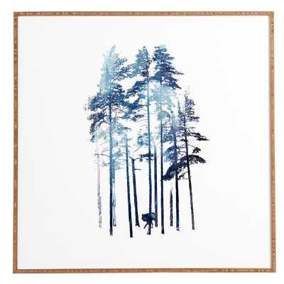 Winter Wolf Framed Graphic Art - AllModern