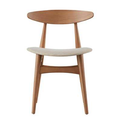 Judson Scandinavian Natural Dining Chair, Beige/Natural (Set of 2) - Home Depot