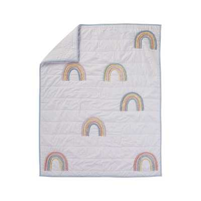 Lucky Rainbow Lavender Baby Quilt - Crate and Barrel