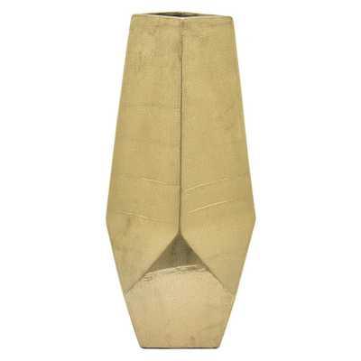 10 in. Gold Ceramic Decorative Vase, Metallics - Home Depot