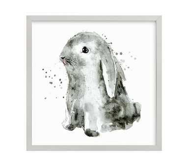 Bunny 1, Gray, 16x16 - Pottery Barn Kids