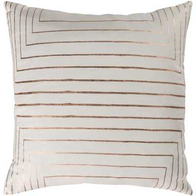 Crescent 18x18 Pillow Cover with Down Insert - Neva Home