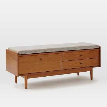 Mid-Century Entryway Bench - Acorn - West Elm