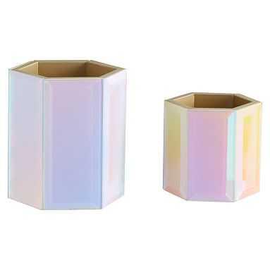 Iridescent Beauty Cups, Set of 2 - Pottery Barn Teen