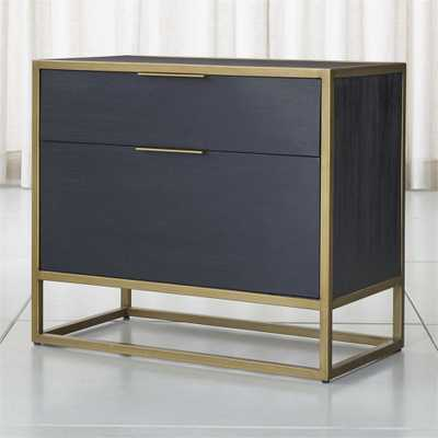 Oxford Black Lateral File Cabinet - Crate and Barrel