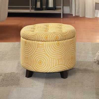 Greenland Tufted Storage Ottoman - Wayfair