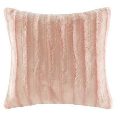 """Blush York Faux Fur Throw Pillow (20""""x20"""") - Target"""