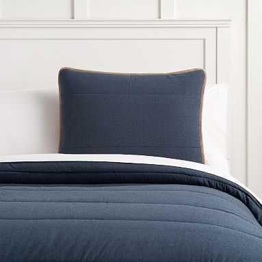 Camden Comforter, Full/Queen, Faded Navy - Pottery Barn Teen
