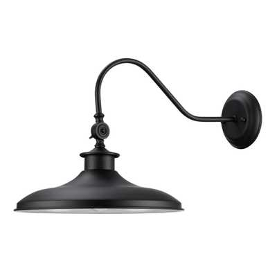 Aedan 1-Light Black Swivel Wall Sconce Light - Home Depot